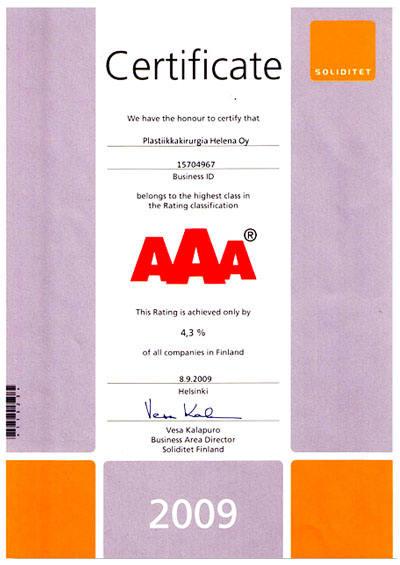 aaa-luottoluokitus-todistus