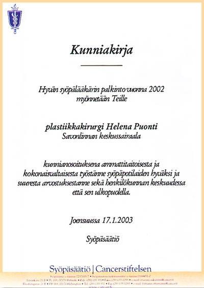 hyva-syopalaakari-palkinto